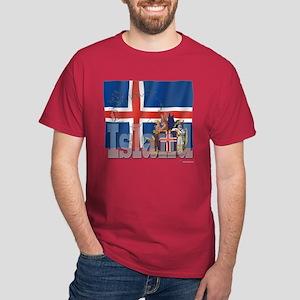 Silky Flag of Island Dark T-Shirt