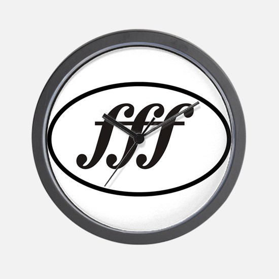 Fortissimo Loud fff Musician Wall Clock