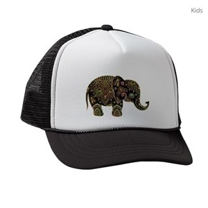 41e257b5e3c Animals Elephant Kids Trucker Hats - CafePress