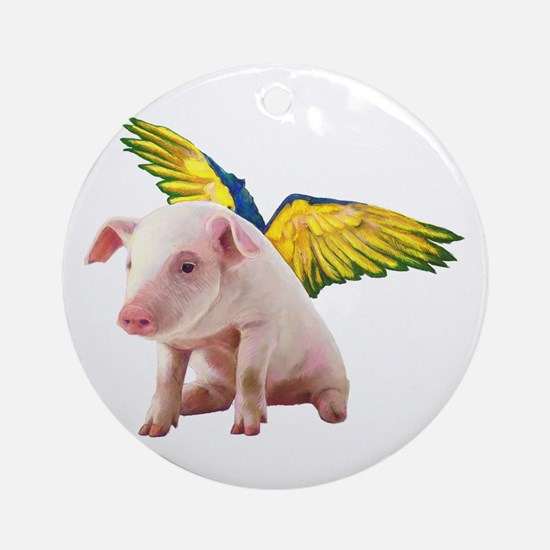 Pigs Fly Ornament (Round)