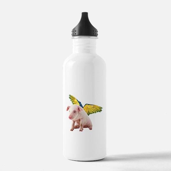 Pigs Fly Sports Water Bottle