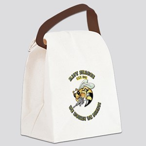 New Navy SeaBee Canvas Lunch Bag