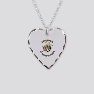 New Navy SeaBee Necklace Heart Charm