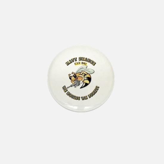New Navy SeaBee Mini Button
