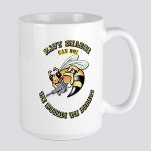 New Navy SeaBee Large Mug
