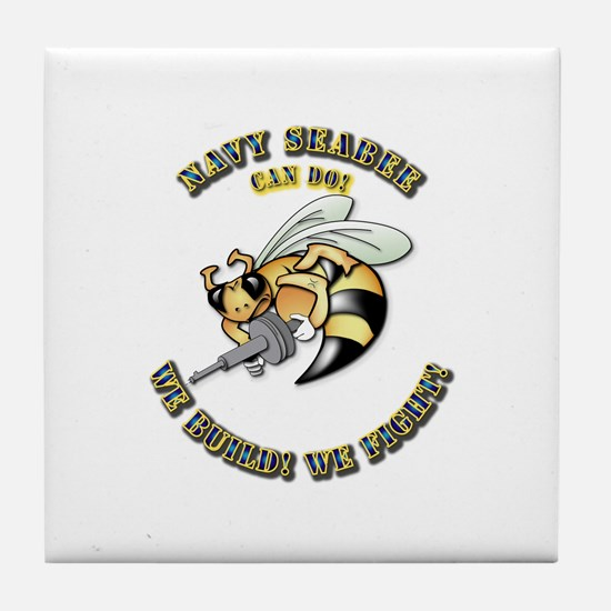 New Navy SeaBee Tile Coaster