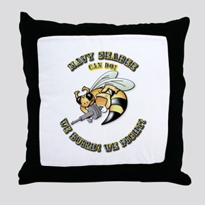 New Navy SeaBee Throw Pillow