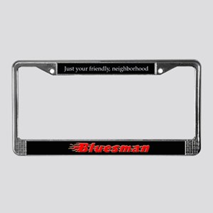 Bluesman License Plate Frame