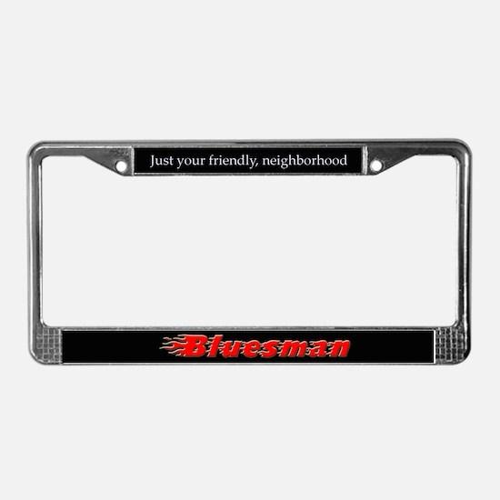Bluesman License Plate Frame