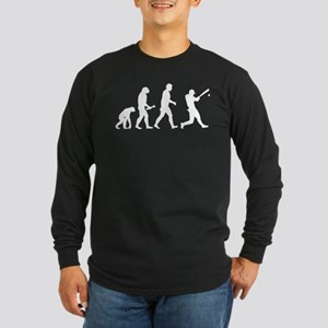 Baseball Evolution Long Sleeve Dark T-Shirt