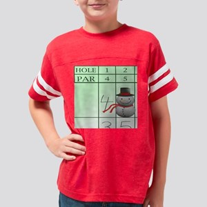 6x6snowman8 Youth Football Shirt