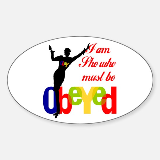 Quickly! ...Get her this Oval Decal