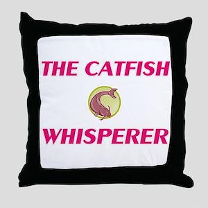 The Catfish Whisperer Throw Pillow