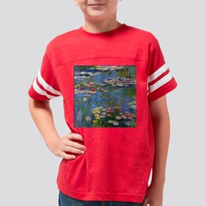 Water Lilies 1916 by Claude M Youth Football Shirt
