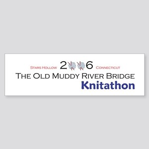 Gilmore Girls Knitathon Bumper Sticker