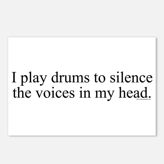 I play Drums to silence the v Postcards (Package o