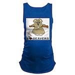 I Love Beavers Maternity Tank Top
