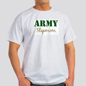 Army Stepmom Ash Grey T-Shirt