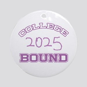 College Bound 2025 Ornament (Round)