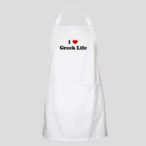 I Love Greek Life BBQ Apron