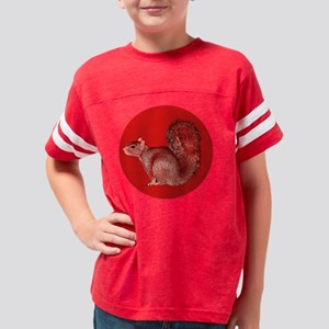 Red Sqrl Round copy Youth Football Shirt