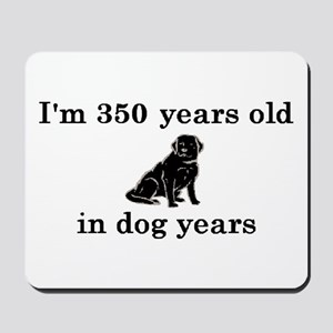 50 birthday dog years lab 2 Mousepad