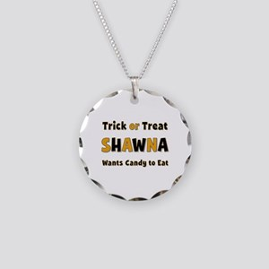 Shawna Trick or Treat Necklace Circle Charm