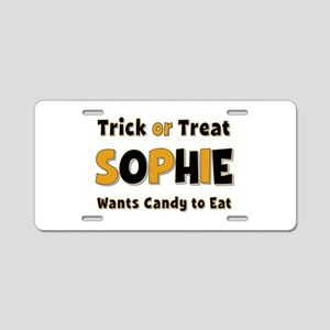 Sophie Trick or Treat Aluminum License Plate