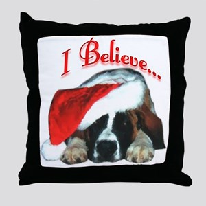 Saint I Believe Throw Pillow