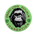 """Ourf_logo_bevel1 3.5"""" Button (100 Pack)"""