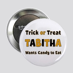 Tabitha Trick or Treat Button