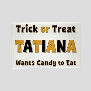 Tatiana Trick or Treat Rectangle Magnet