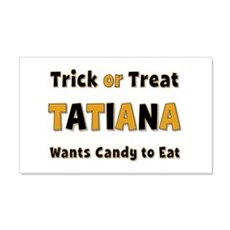 Tatiana Trick or Treat 20x12 Wall Peel