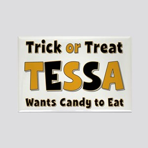 Tessa Trick or Treat Rectangle Magnet