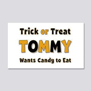 Tommy Trick or Treat 20x12 Wall Peel