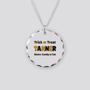 Tanner Trick or Treat Necklace Circle Charm