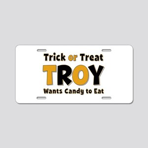 Troy Trick or Treat Aluminum License Plate