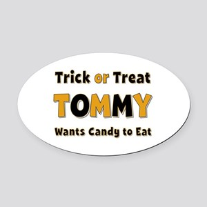 Tommy Trick or Treat Oval Car Magnet