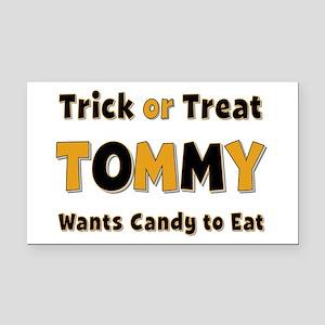 Tommy Trick or Treat Retangular Car Magnet