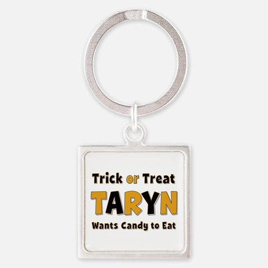Taryn Trick or Treat Square Keychain