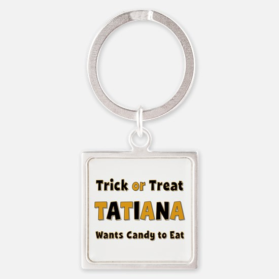 Tatiana Trick or Treat Square Keychain