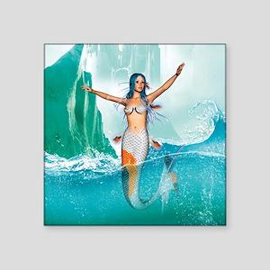 "Mermaid Square Sticker 3"" x 3"""