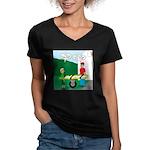 Jamboree Stretcher Women's V-Neck Dark T-Shirt