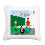 Jamboree Stretcher Square Canvas Pillow