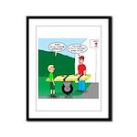 Jamboree Stretcher Framed Panel Print