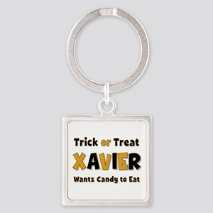 Xavier Trick or Treat Square Keychain