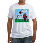 Weather Balloon Launch Fitted T-Shirt