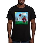 Weather Balloon Launch Men's Fitted T-Shirt (dark)