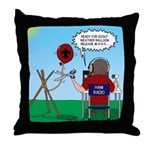Weather Balloon Launch Throw Pillow