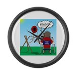 Weather Balloon Launch Large Wall Clock